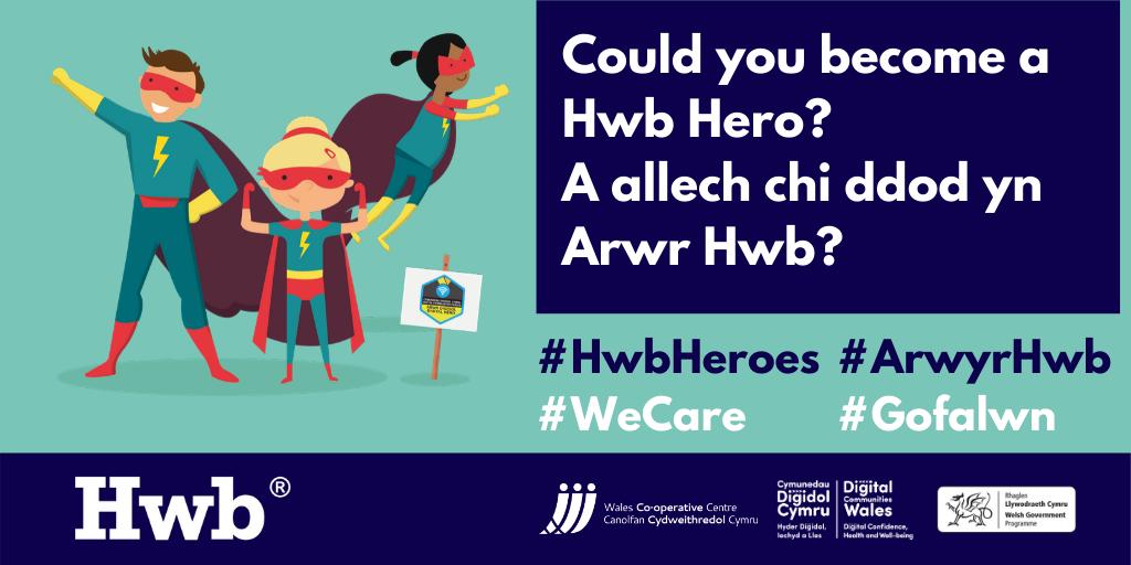 Hwb heroes illustration poster