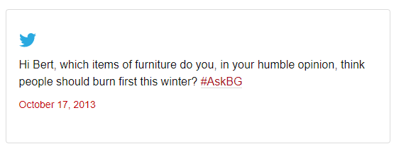 a tweet to british gas from 2013