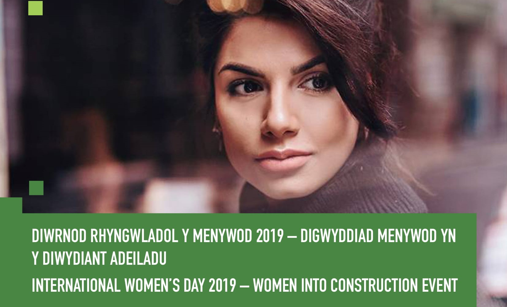 International Women's Day poster featuring Ruby Bhogal
