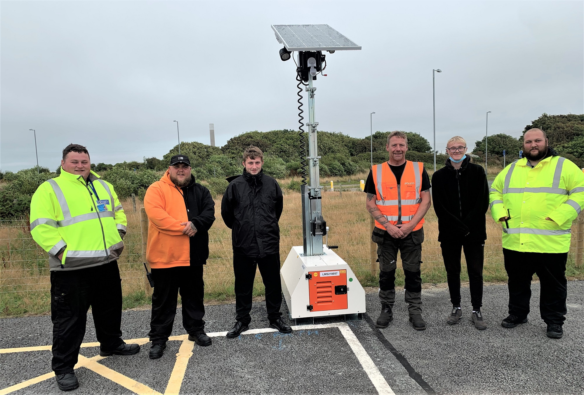 The MHM Plant team at Anglesey Lorry Park