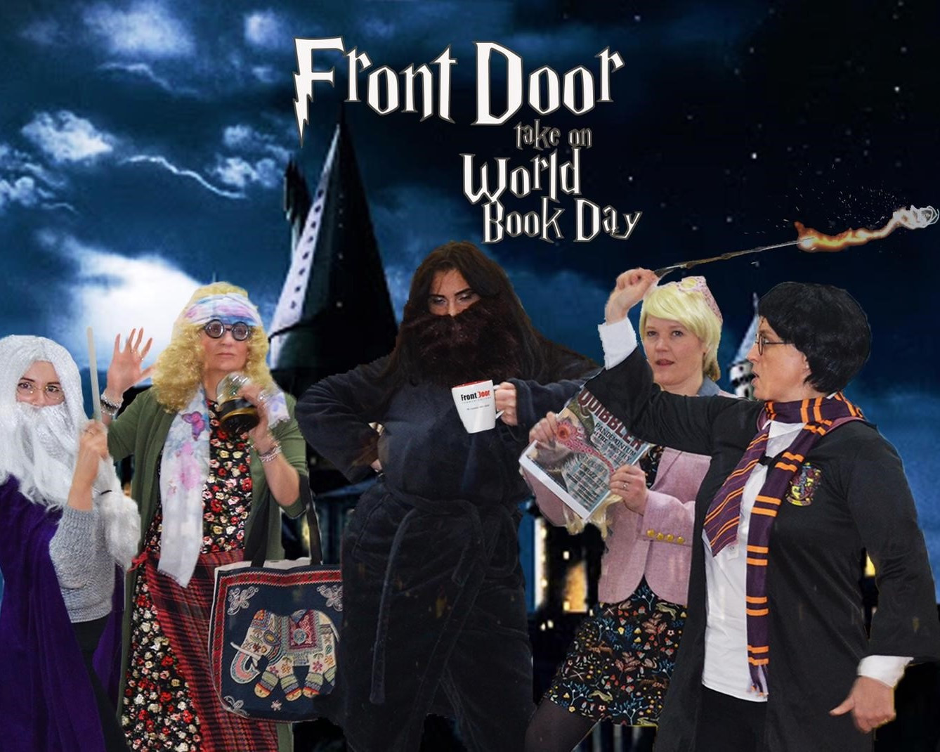 The Front Door team dressed as Harry Potter characters for World Book Day 2020