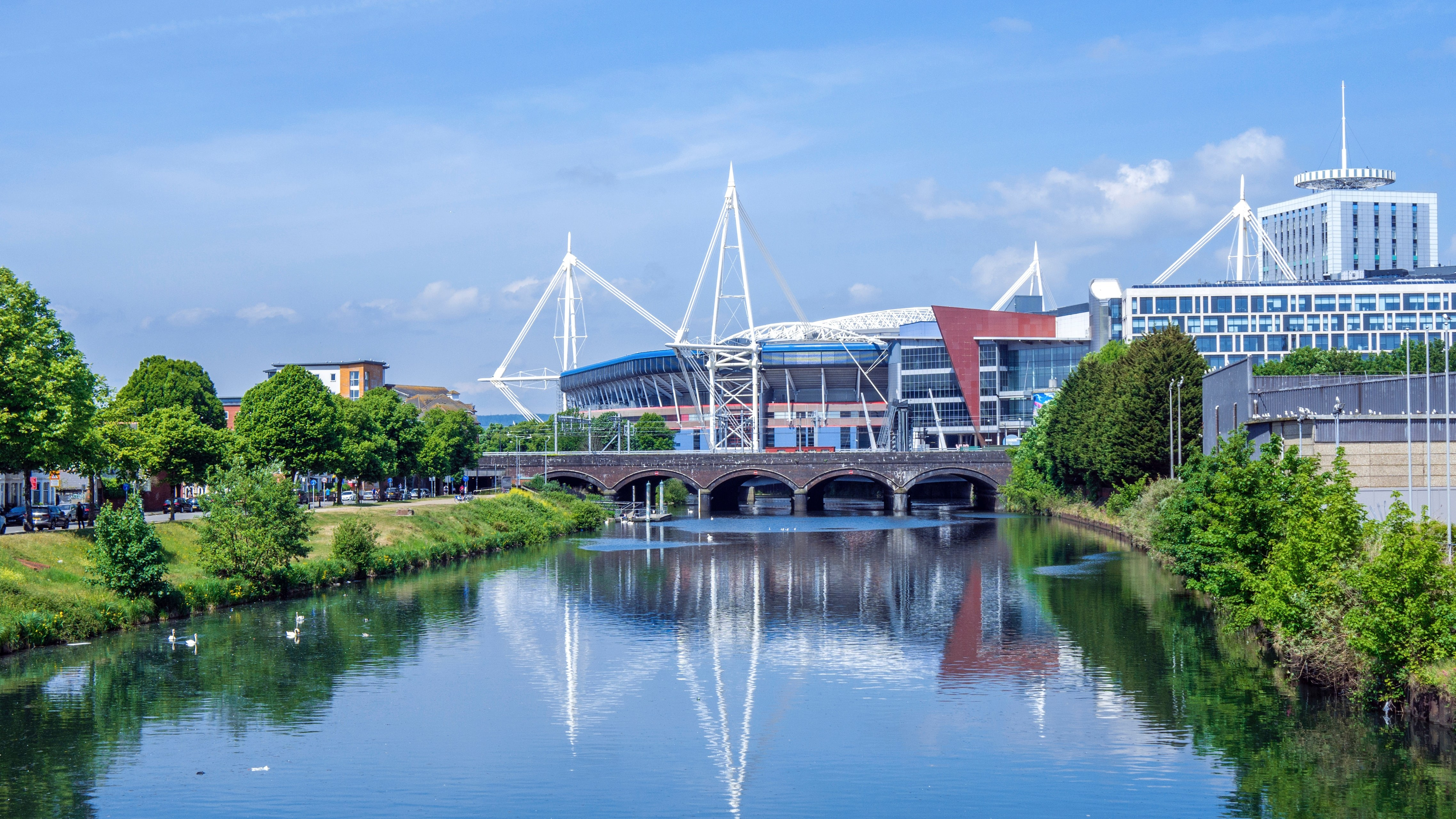 The Principality Stadium in Cardiff, Wales