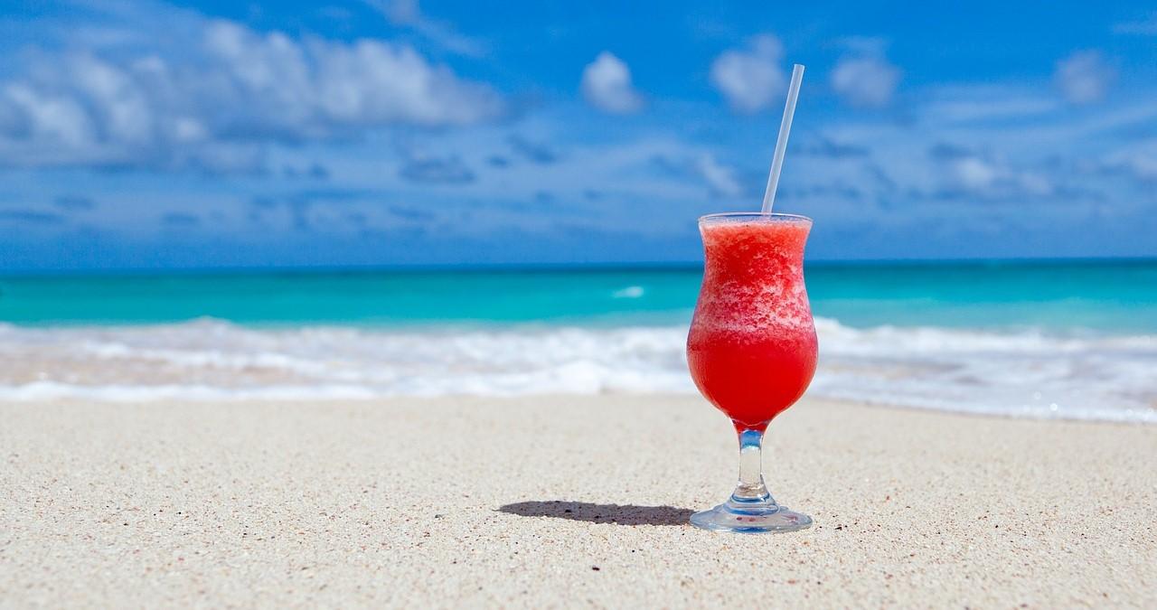 cocktail on a sandy beach